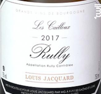Les Cailloux - Louis Jacquard - 2018 - Blanc