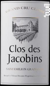 Clos des Jacobins - Clos des Jacobins - 2018 - Rouge