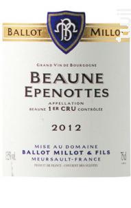 Beaune Premier Cru Les Epenottes - Domaine Ballot-Millot - 2017 - Rouge