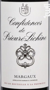 Confidences de Prieuré-Lichine - Château Prieuré-Lichine - 2014 - Rouge