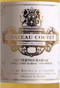 Château Coutet - Château Coutet - Barsac - 2009 - Blanc