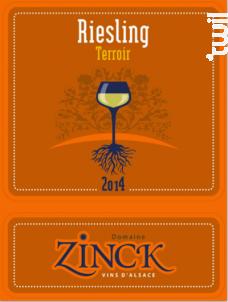 Riesling Terroir - DOMAINE ZINCK - 2016 - Blanc