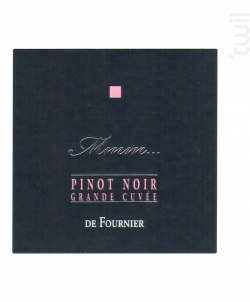 Mmm... Pinot Noir - FOURNIER Père & Fils - 2017 - Rouge