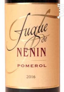 Fugue de Nénin - Château Nénin - 2017 - Rouge