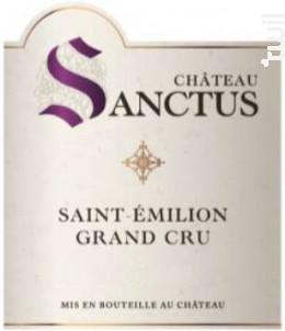 Château Sanctus - Château Sanctus - 2015 - Rouge