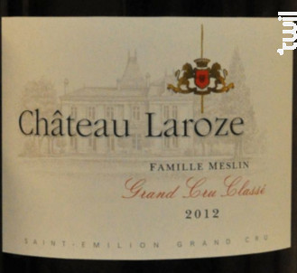 Château Laroze - Château Laroze - 2012 - Rouge