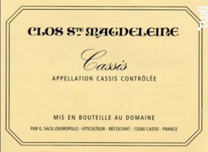 Cassis - Clos Sainte Magdeleine - 2017 - Blanc
