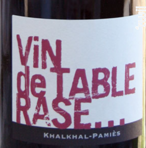 Vin de Table Rase - Khalkhal-Pamiès - 2009 - Rouge