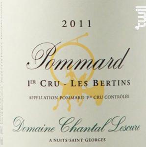 Pommard 1er Cru Les Bertins - Domaine Chantal Lescure - 2012 - Rouge