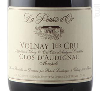 VOLNAY 1er cru Clos d'Audignac - Domaine de la Pousse d'Or - 2015 - Rouge