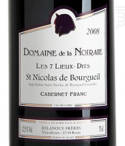 Les 7 Lieux-Dits - Domaine de La Noiraie - 2015 - Rouge