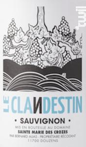 Le Clandestin - Domaine Sainte Marie des Crozes - 2019 - Blanc