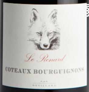 Le Renard Coteaux Bourguignons - Le Renard - Domaines Devillard - 2017 - Rouge