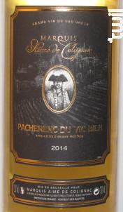 PACHERENC DE VIC BILH - Marquis Aimé de Colignac - 2015 - Blanc