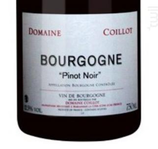 Bourgogne Pinot Noir - Domaine Coillot - 2013 - Rouge