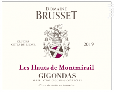 Les Hauts de Montmirail - Domaine Brusset - 2019 - Rouge