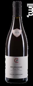 Pinot Noir - Domaine Philippe Cordonnier - 2016 - Rouge