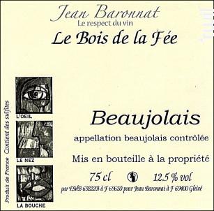 Beaujolais - Baronnat Jean - 2018 - Blanc