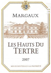 LES HAUTS DU TERTRE - Château du Tertre - 2008 - Rouge