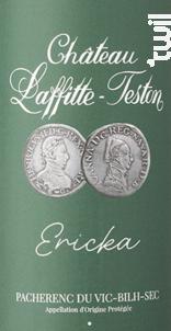 Éricka - Pacherenc du Vic-Bilh Sec - Château Laffitte-Teston - 2018 - Blanc