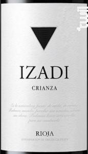 Rioja crianza - tempranillo - IZADI - 2015 - Rouge