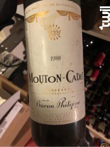Mouton Cadet - Baron Philippe De Rothschild - 1976 - Rouge
