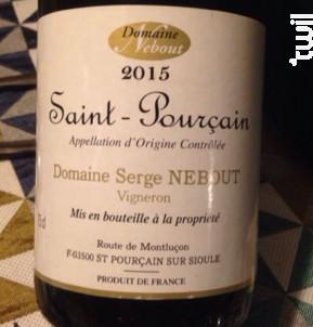 Saint-pourçain - Domaine Nebout - 2017 - Rouge