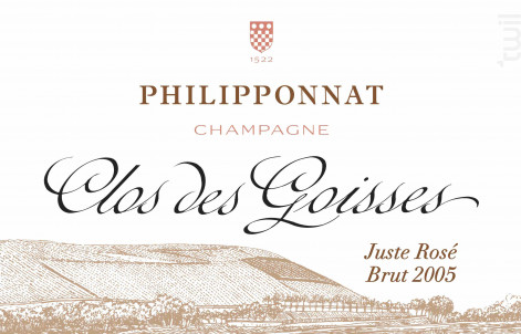 Clos des Goisses Juste Rosé Brut Millésimé - Champagne Philipponnat - 2009 - Effervescent