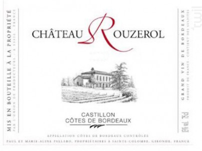 Château Rouzerol - Château Rouzerol - 2014 - Rouge