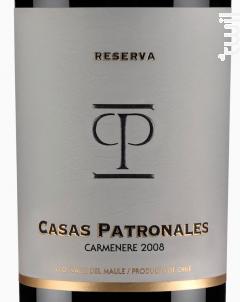 Casas Patronales Carménère - Casas Patronales - 2016 - Rouge