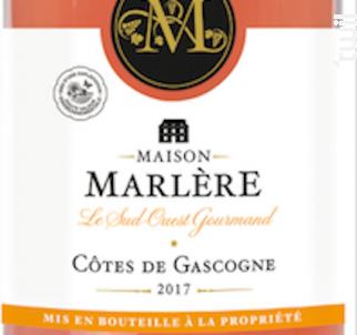 Côtes de Gascogne Rosé. - Maison Marlère - 2018 - Rosé