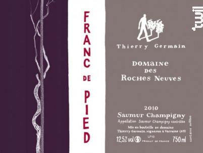 Franc de pied - Thierry Germain - Domaine des Roches Neuves - 2018 - Rouge