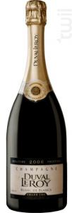 Duval-Leroy Blanc de Blancs Brut Millésime 2006 - Champagne Duval-Leroy - 2004 - Effervescent