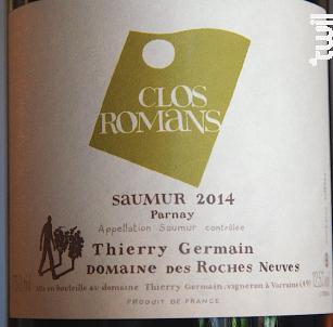 Clos Romans - Thierry Germain - Domaine des Roches Neuves - 2016 - Blanc