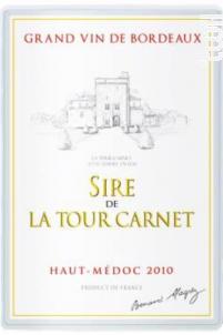 Sire de la Tour Carnet - Bernard Magrez - Château La Tour Carnet - 2012 - Rouge