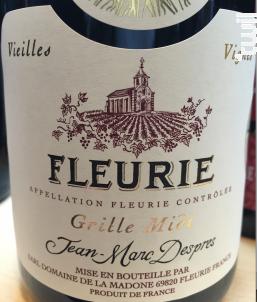 Grille Midi Vieilles Vignes - Domaine de La Madone - 2012 - Rouge