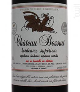 Château Bossuet - Château Bossuet - 1975 - Rouge