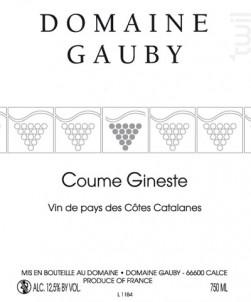 Coume Gineste - Domaine Gauby - 2015 - Blanc