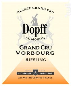 Riesling Grand Cru Vorbourg - Dopff Au Moulin - 2015 - Blanc