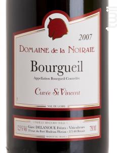 Cuvée Saint Vincent - Domaine de La Noiraie - 2015 - Rouge