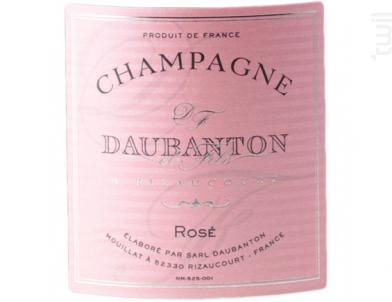 Cuvée Rosé - Champagne Daubanton - Non millésimé - Effervescent