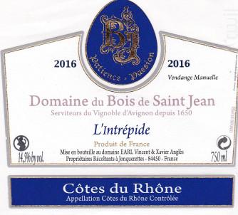 L'Intrépide - Domaine du Bois de Saint Jean - 2017 - Rouge