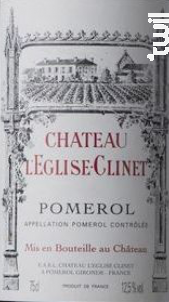 Château l'Eglise Clinet - Château l'Eglise-Clinet - 1991 - Rouge