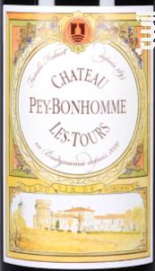 Château Peybonhomme Les Tours - Château Pey-Bonhomme Les Tours - Vignobles Hubert - 2016 - Rouge
