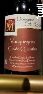 Cuvée Quentho - Domaine Saint Roch - 2018 - Rouge