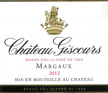 Château Giscours - Château Giscours - 2012 - Rouge