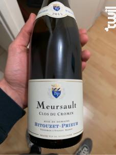 Meursault Clos du Cromin - Domaine Bitouzet-Prieur - 2015 - Blanc