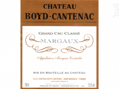 Château Boyd Cantenac - Château Boyd Cantenac & Château Pouget - 2014 - Rouge