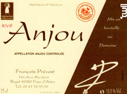 Anjou blanc - François Prévost - 2019 - Blanc