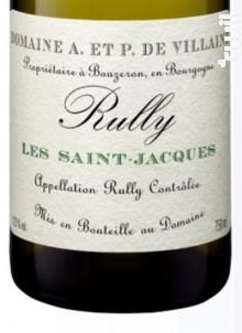 Rully Les Saint-Jacques - Domaine de Villaine - 2018 - Blanc